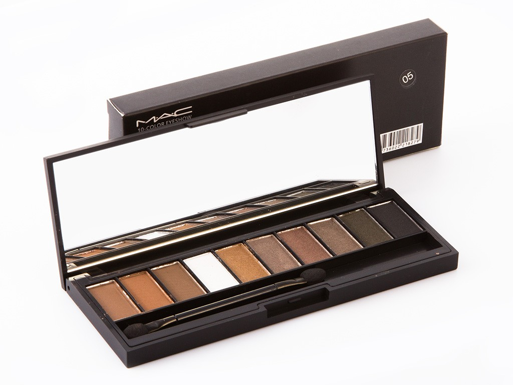 Палитра теней для век MAC 10 Colors Eyeshadow, фото 1