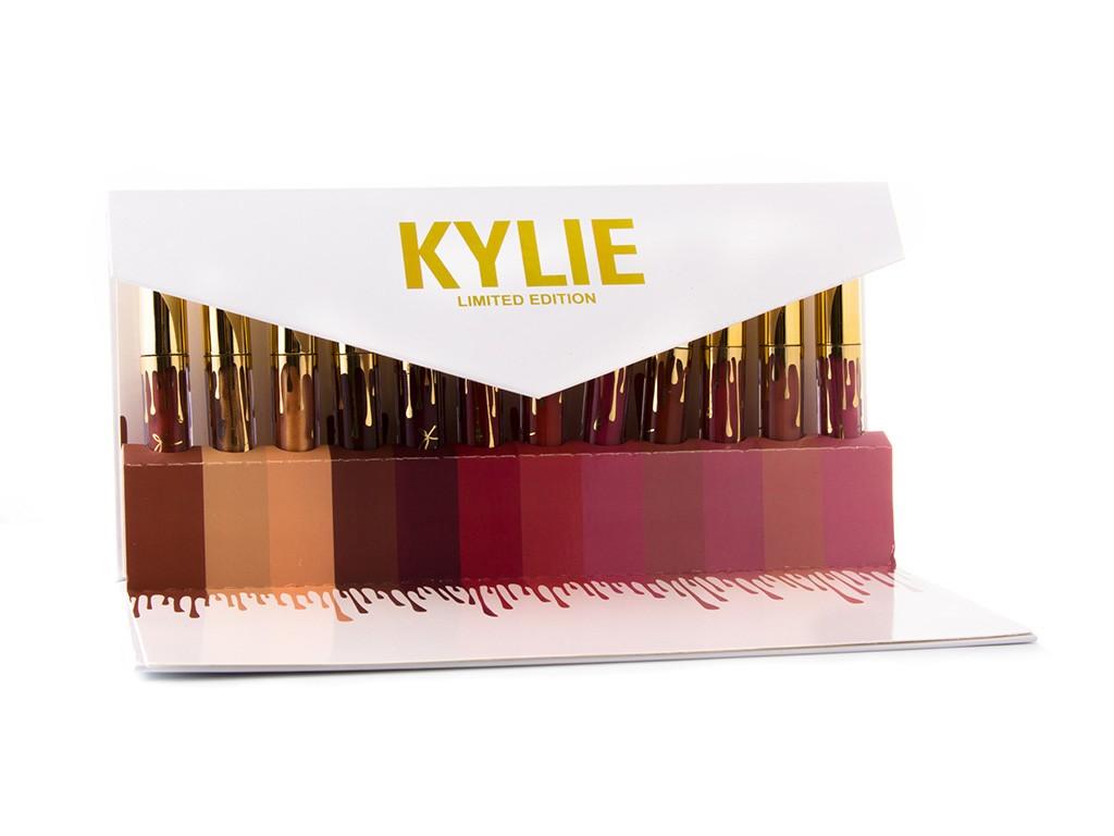 Набор из 12 помад Kylie в подарочном конверте, фото 1