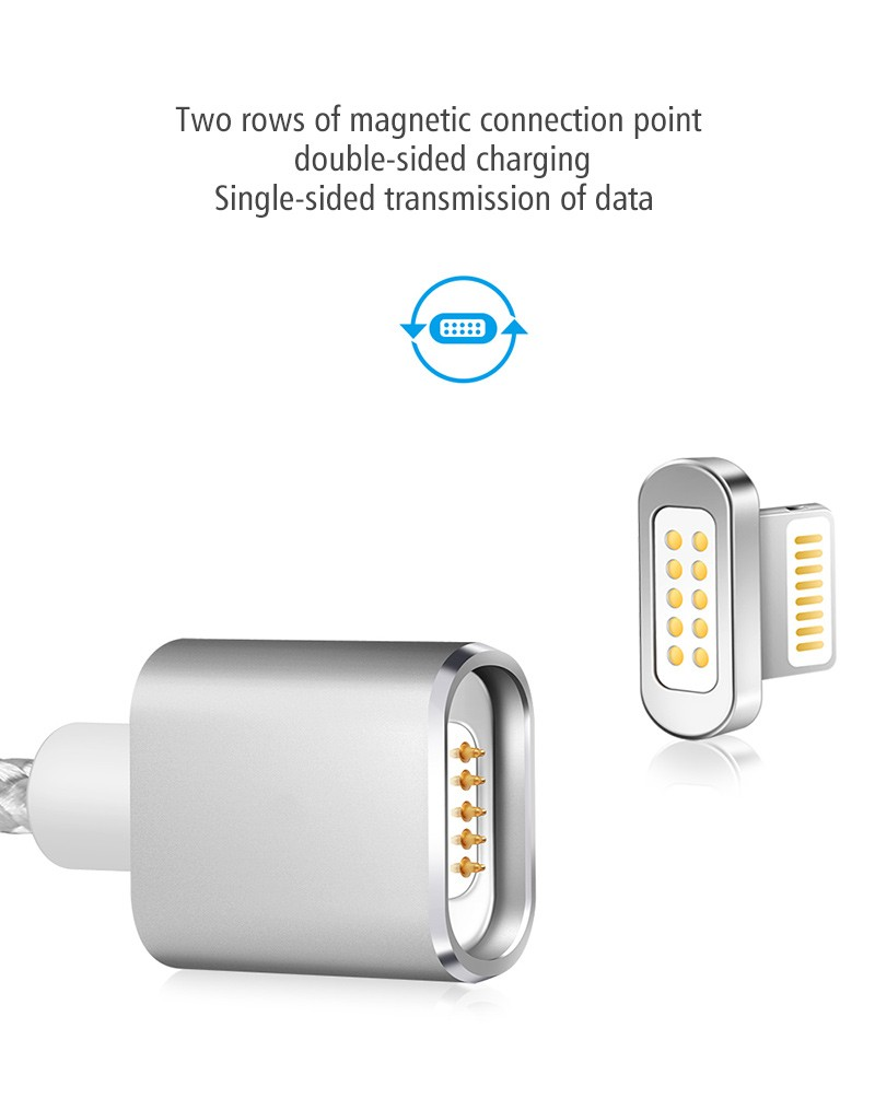 "Магнитный шнур-зарядка ""Elough "" с индикатором на Android, фото 4"