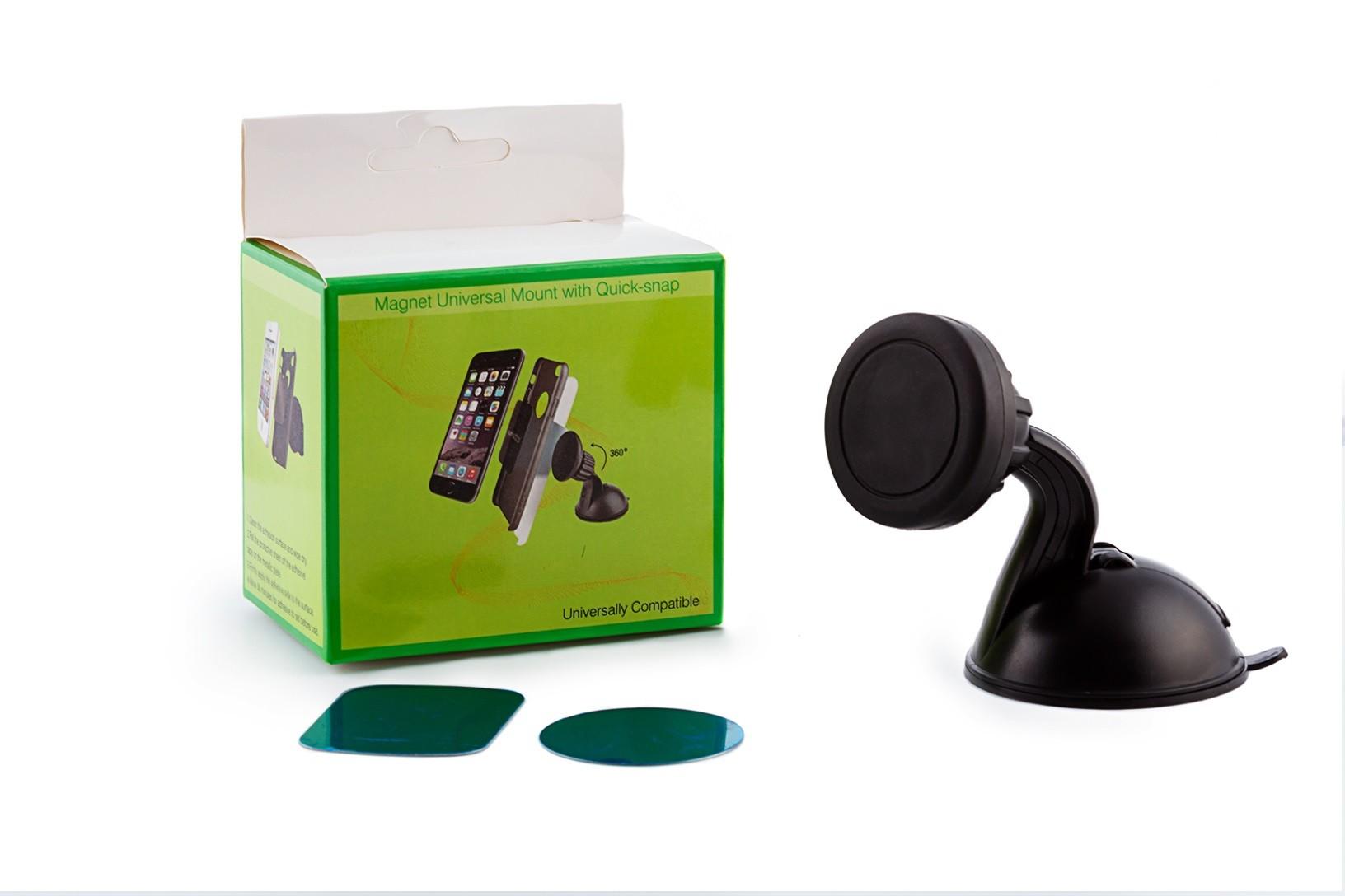 Держатель для телефона магнитный на присоске, фото 1