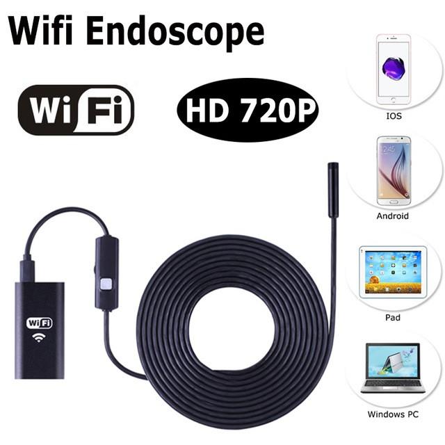 Водонепроницаемая камера WI-FI, USB эндоскоп, бароскоп для всех операционных систем, фото 2