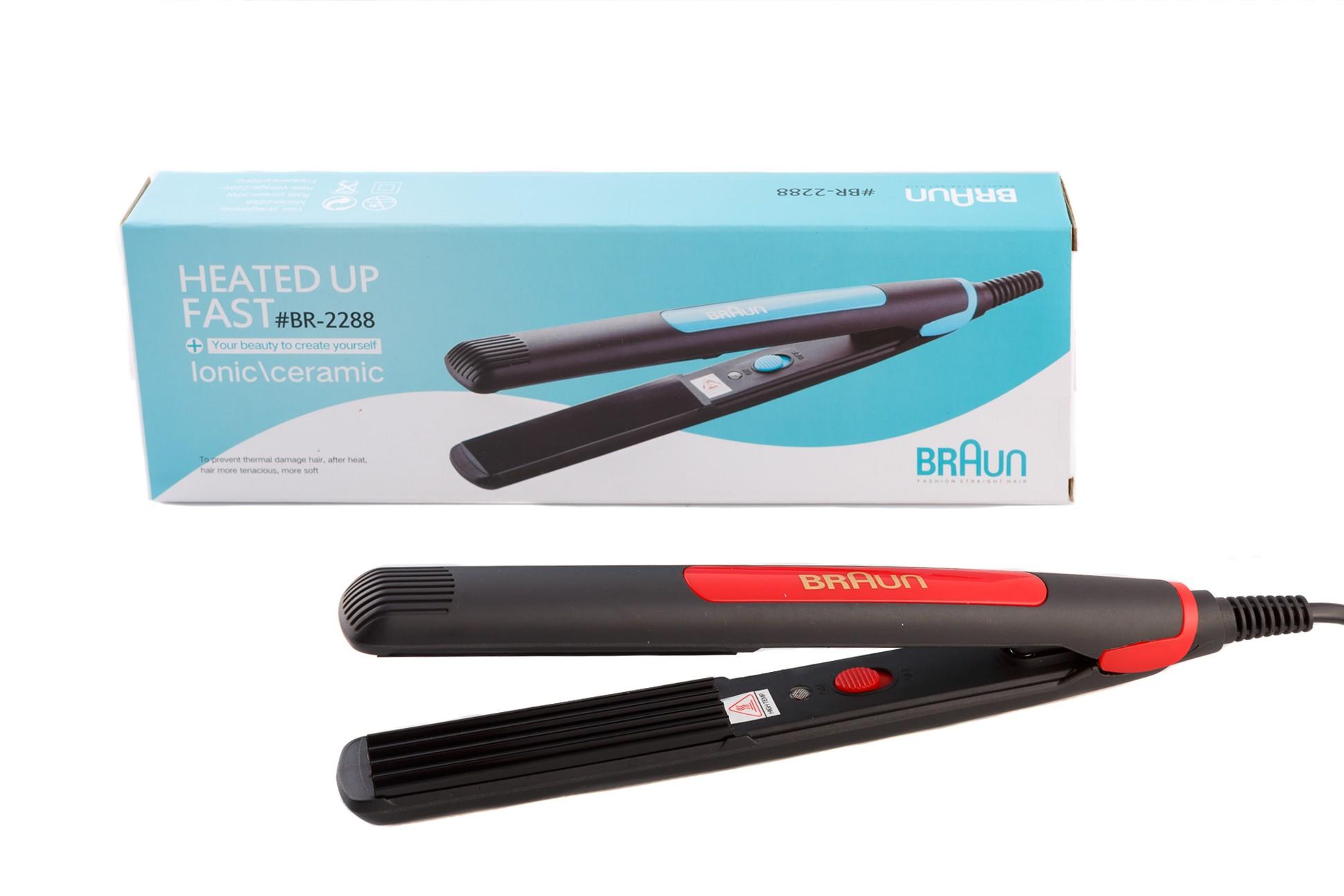 Дорожный утюжок для гофрирования волос BR-2288, фото 1