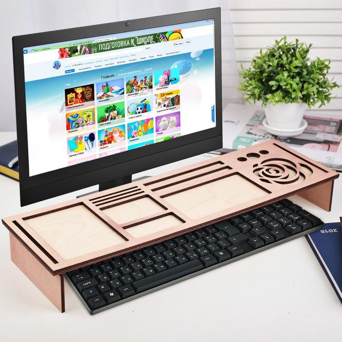 Органайзер для клавиатуры деревянный, фото 2