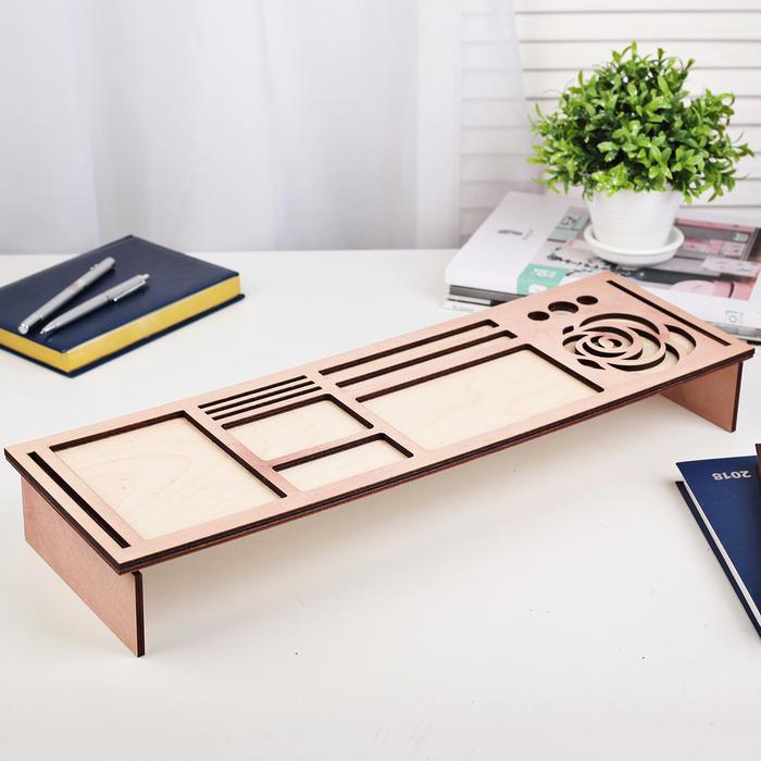 Органайзер для клавиатуры деревянный, фото 5