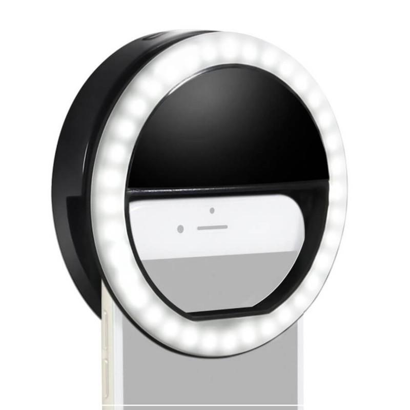 Светодиодное кольцо на телефон для селфи с тремя режимами яркости, фото 1