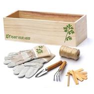Набор для ухода за комнатными растениями в деревянной коробке, фото 1