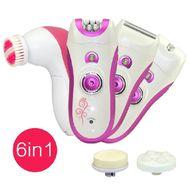 Набор для удаления волос 6 в 1 ( эпилятор+массажная щетка для лица) KM 3066, фото 1