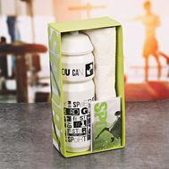 Полезный набор для фитнеса (бутылка для воды, полотенце, блокнот), фото 1