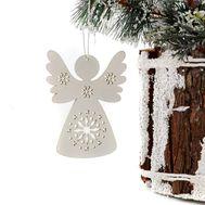 Новогодняя, деревянная подвеска  «Ангел», фото 1