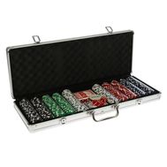 Покер в металлическом кейсе на 500 фишек, фото 1