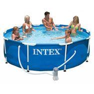 Каркасный бассейн Intex 28202 METAL FRAME 305х76см + фильтр-насос 1250 л.ч, картриджный фильтр, фото 1