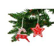 Набор деревянных подвесок (Олень+звезда), фото 1