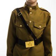 Ремень военный с металлической пряжкой, фото 1