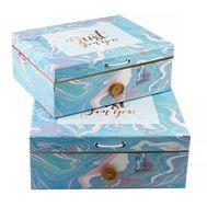 Подарочная коробка 2 в 1 с пуговкой, фото 1