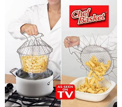 Складная решетка для приготовления пищи Chef Basket, фото 1