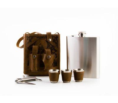 Подарочный набор Hip Flask 510 мл (Фляжка, стопка, нож), фото 2