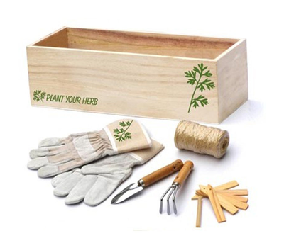 Набор для ухода за комнатными растениями в деревянной коробке , фото 1