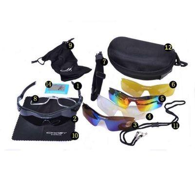 Тактические очки Oakley 4 линзы с поляризацией +1 линза с фильтром UV400, фото 1