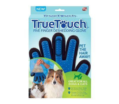 Массажная перчатка True Touch для ухода за шерстью , фото 1