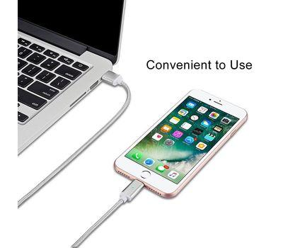 "Магнитный шнур-зарядка ""Elough "" 3 в 1 с индикатором на три коннектора (Android, Iphone, USB 3.1) , фото 4"