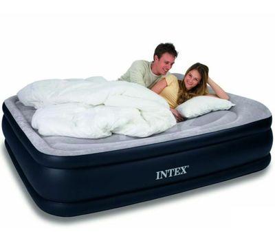 Надувная двуспальная кровать Intex 64136 Deluxe Pillow Rest Reised Bed, фото 1