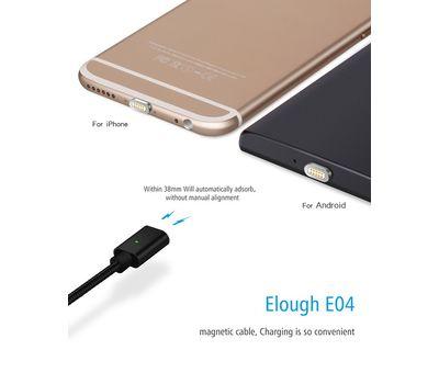 """Магнитный шнур-зарядка """"Elough """" 2 в 1 с индикатором на два коннектора (Android, IOS) , фото 2"""