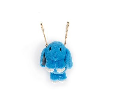 Сумка-рюкзак 3D «Меховой Кролик» на цепочке, фото 2