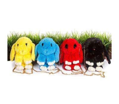 """Сумка-рюкзак 3D """"Меховой Кролик"""" на цепочке , фото 1"""