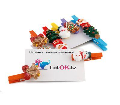 Набор декоративных новогодних прищепок (10 штук), фото 1