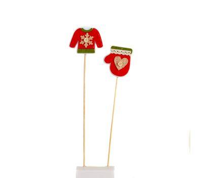 Декоративное украшение на палочках «Одежда Деда Мороза», фото 1