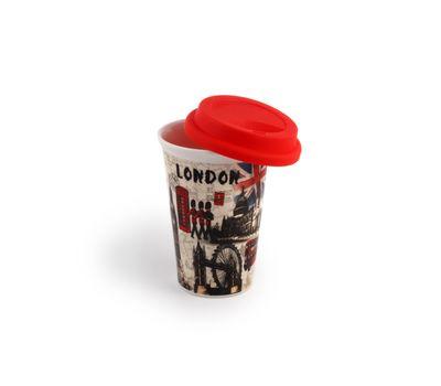 """Кружка для кофе с силиконовой крышкой """" Воспоминание"""" , фото 3"""