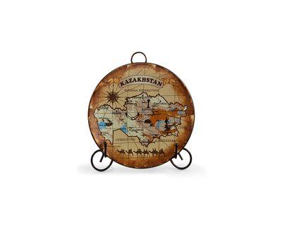 Сувенирная тарелка «Карта Казахстана» , фото 1