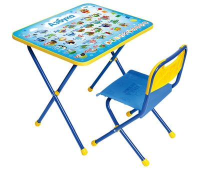 Комплект детской мебели складной на металлокарскасе «Nika», фото 1