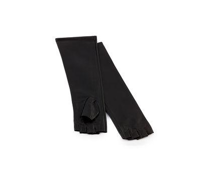 Перчатки женские кожаные длинные (Митенки), фото 1