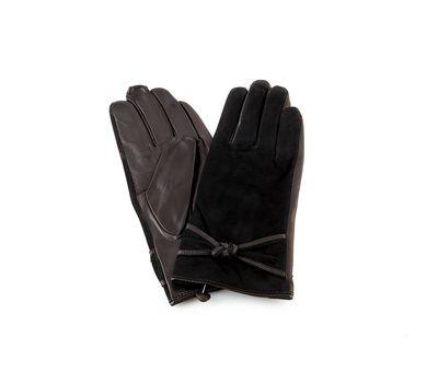 Перчатки женские кожаные с замшей, фото 1