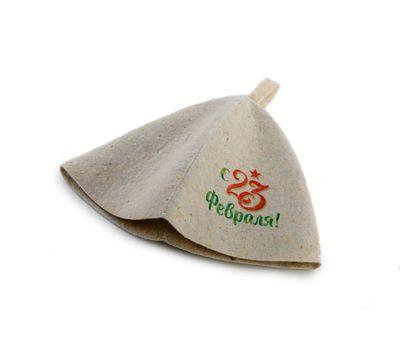 Банный набор с «23 февраля» (Шапка, коврик, рукавица), фото 3