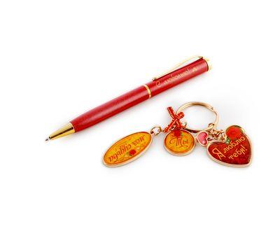 """Набор подарочный """"Я люблю тебя"""" (ручка+брелок), фото 2"""