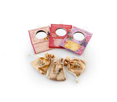 Зеркальце карманное с мешочком в подарочной открытке, фото 2