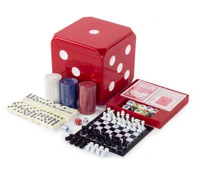 Набор настольных игр 6 в 1 (шахматы, шашки, нарды, покер, домино, кости), фото 1