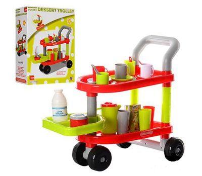 Детская тележка с посудкой и продуктами Fun Toy, фото 1
