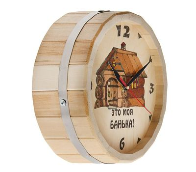 Часы банные бочонок «С лёгким паром», фото 2