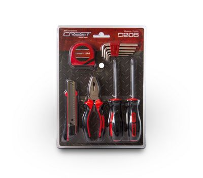 Набор инструментов 10 предметов Crest C205, фото 1