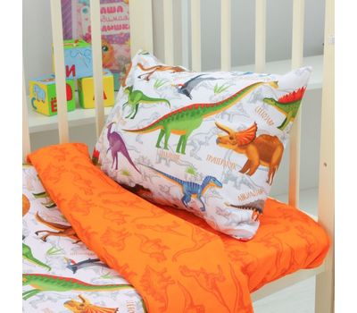 Комплект детского постельного белья из бязи «Динозаврики», фото 2