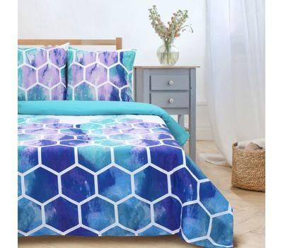 Комплект двуспального постельного белья из поплина «Акварельные соты», фото 3