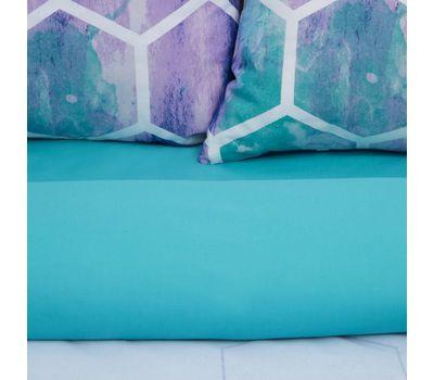 Комплект двуспального постельного белья из поплина «Акварельные соты», фото 5
