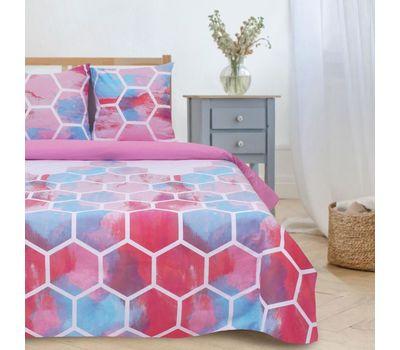 Комплект двуспального постельного белья из поплина «Акварельные соты», фото 4