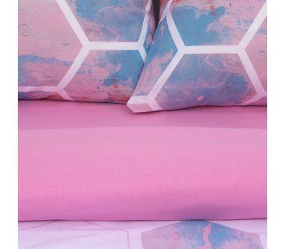Комплект двуспального постельного белья из поплина «Акварельные соты», фото 6