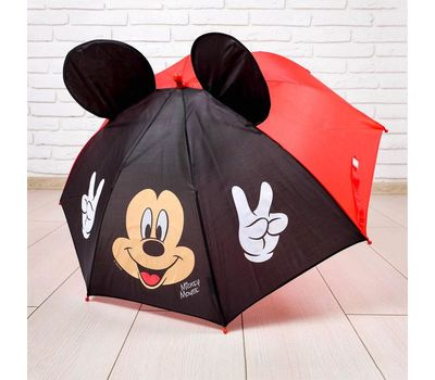 "Зонт детский с ушками ""Микки Маус"", фото 1"