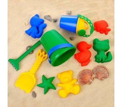 Набор для игры в песке (ведро, 6 формочек, совок, грабли, лейка), фото 1