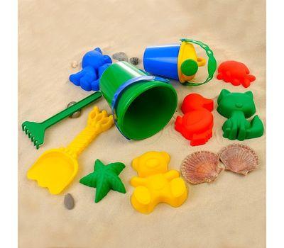 Набор для игры в песке (ведро, 6 формочек, совок, грабли, лейка), фото 2